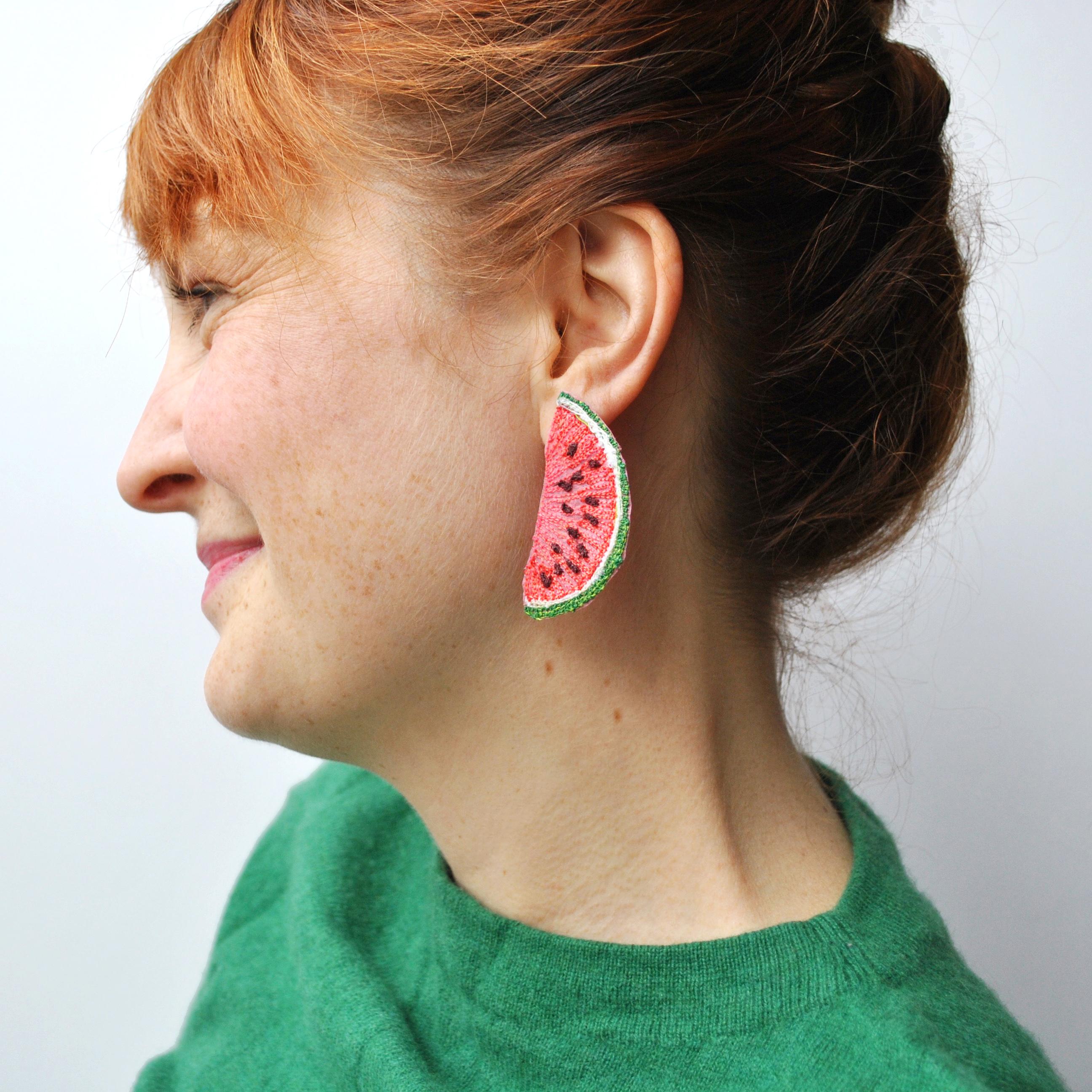 Large Watermelon Earrings