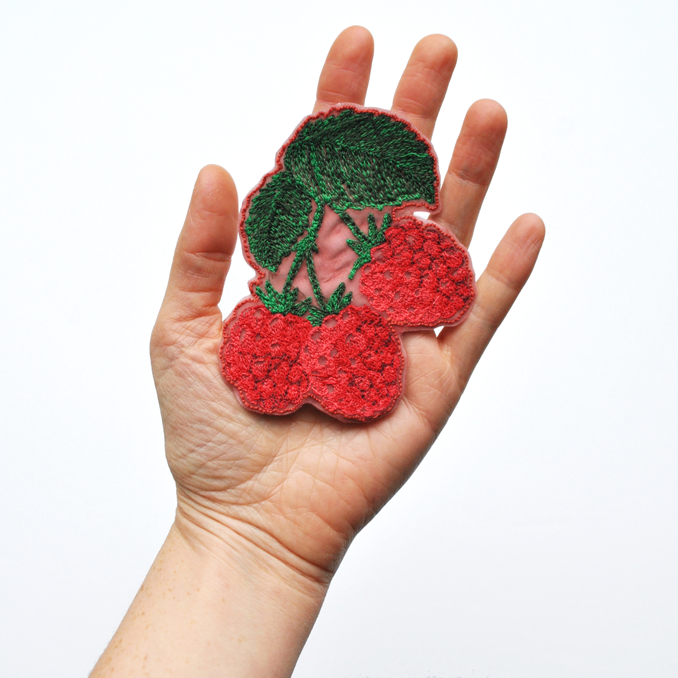 Iron-On Raspberry Patch