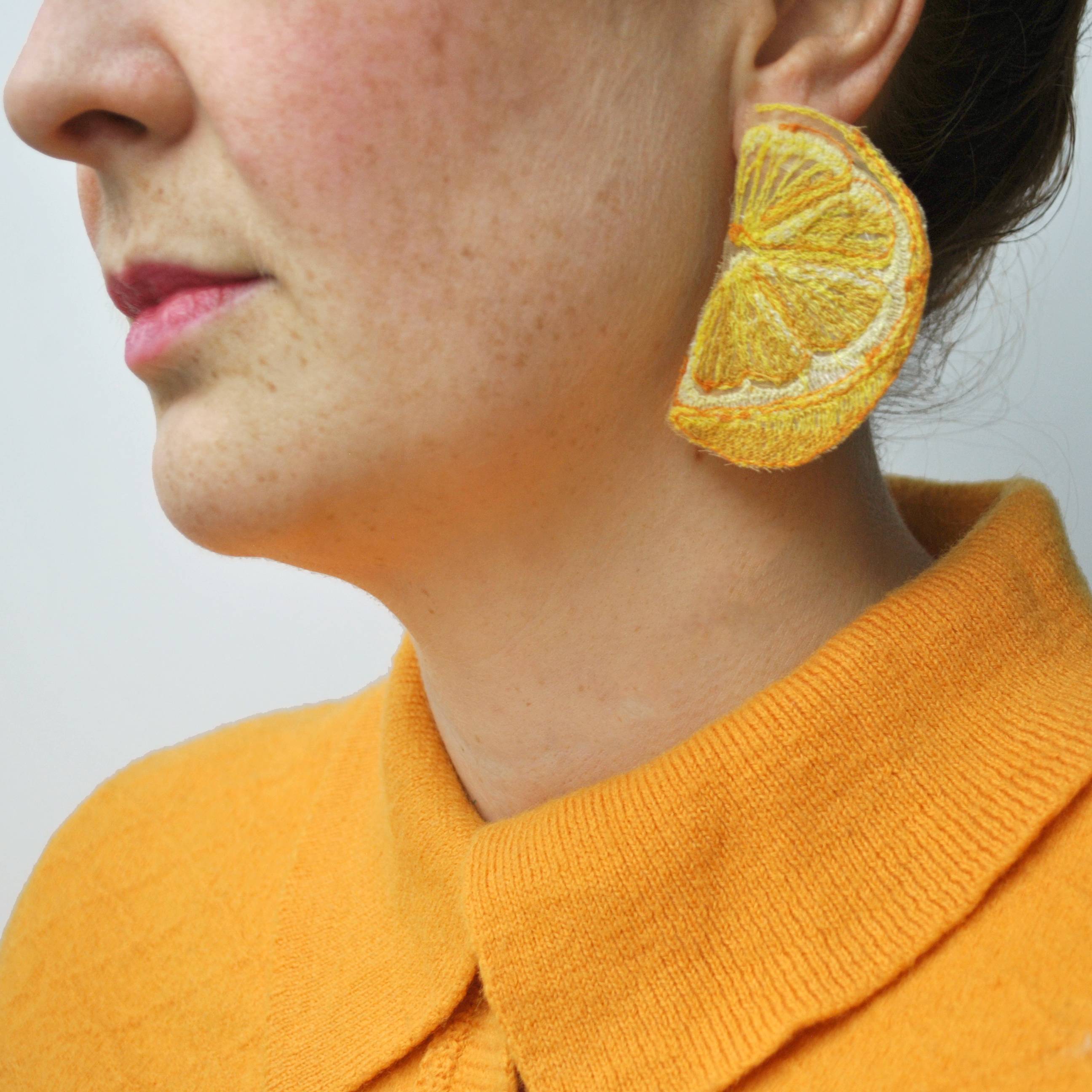 Large Lemon Earrings