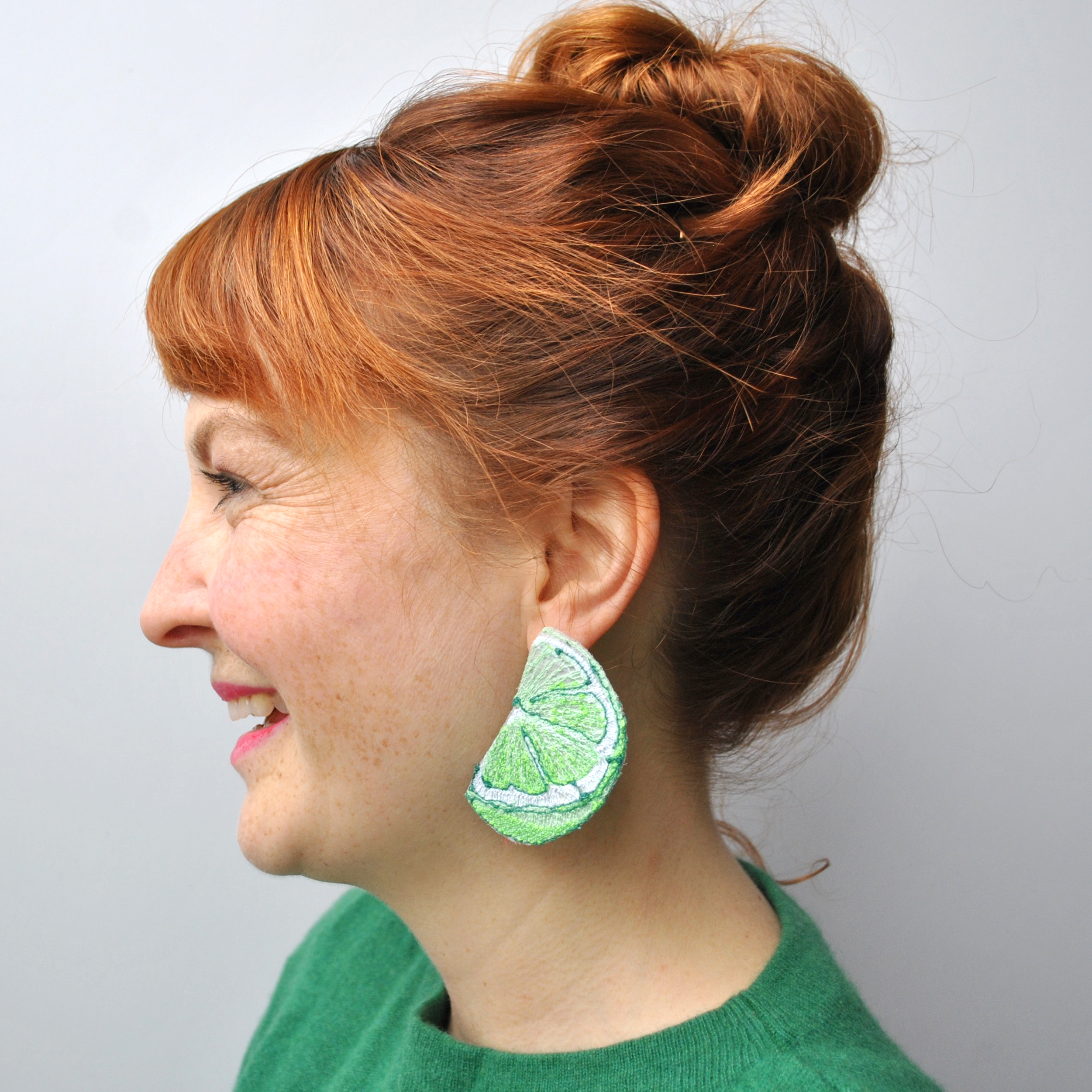Large Lime Earrings