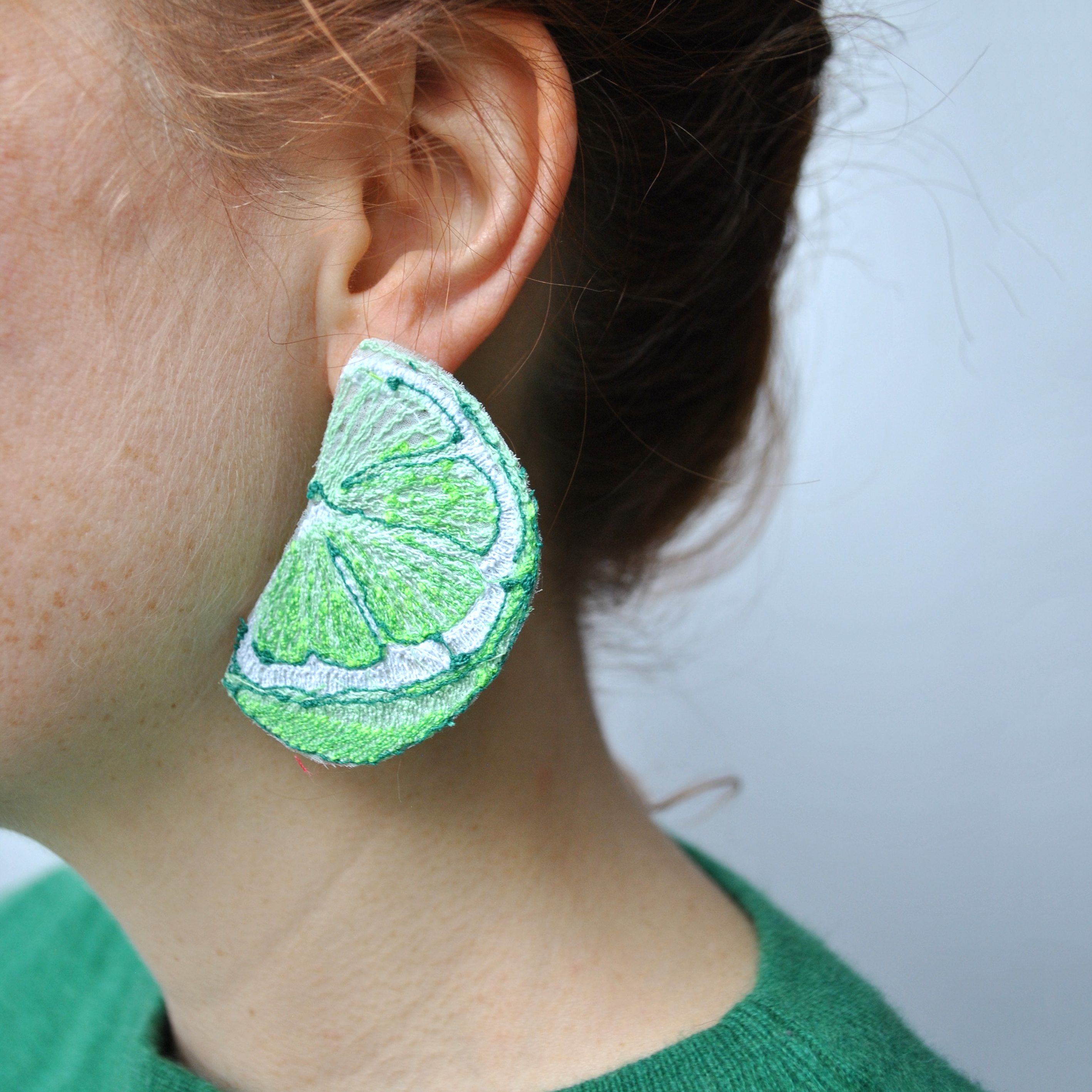 Large Lime Earrings