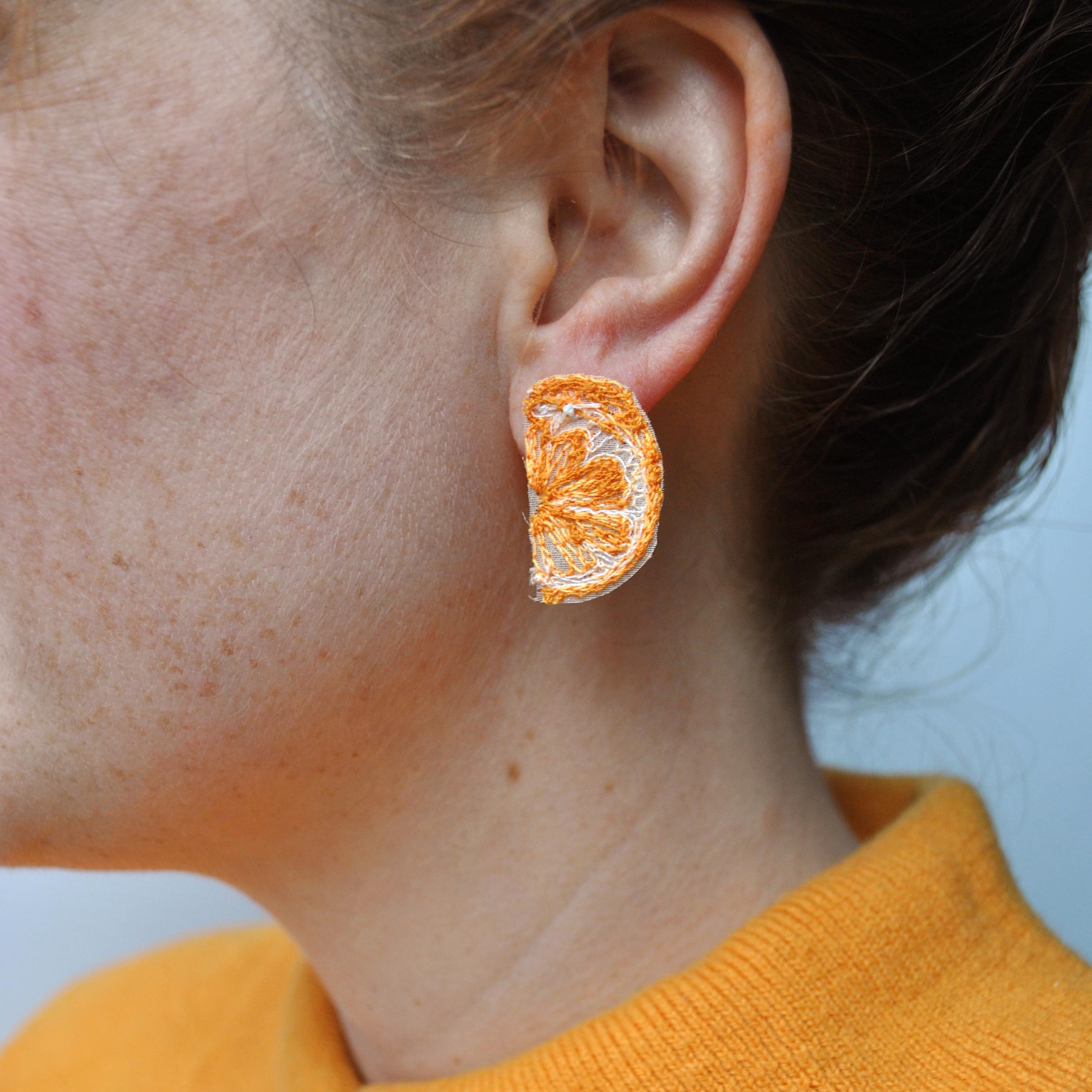 Mini Orange Earrings