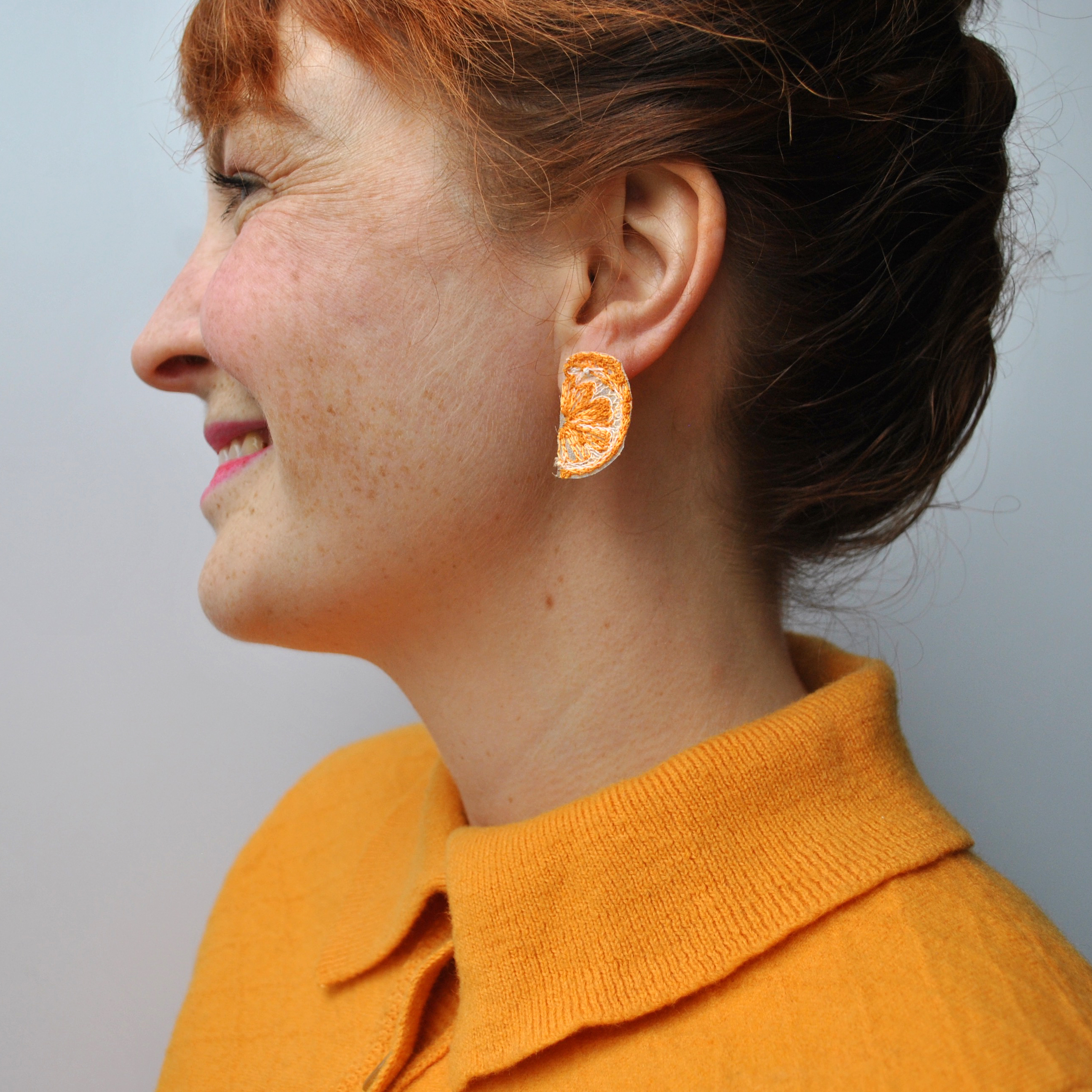 Mini Orange Earrings