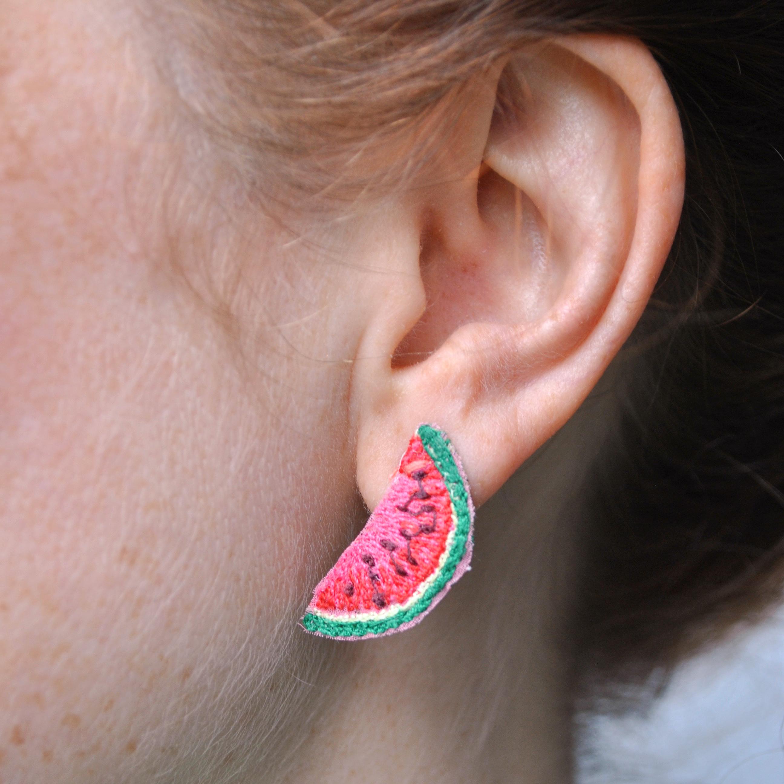 Mini Watermelon Earrings