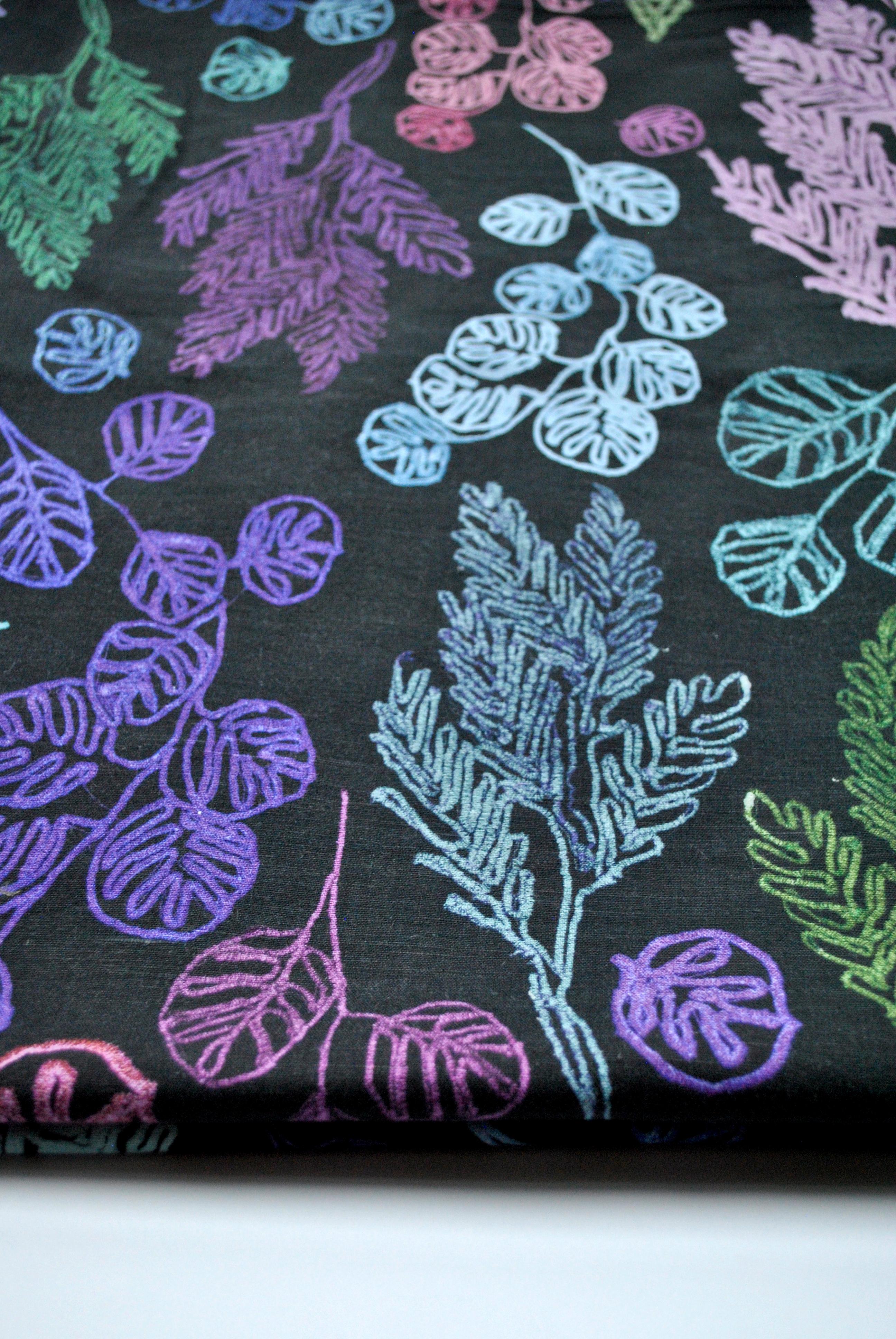 Big Pastel Branches: Linen Cotton Fabric