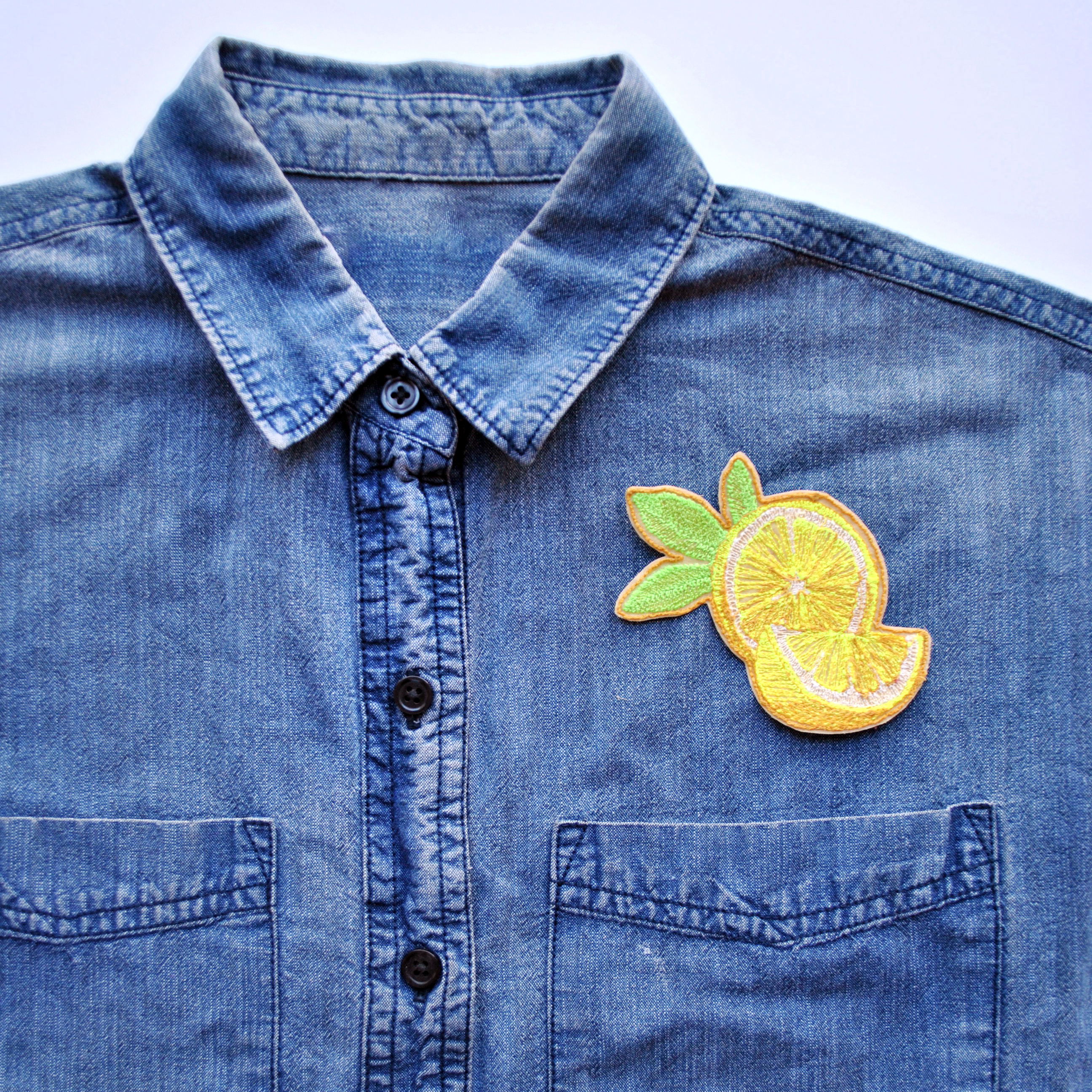 Iron-On Lemon with Slice Patch